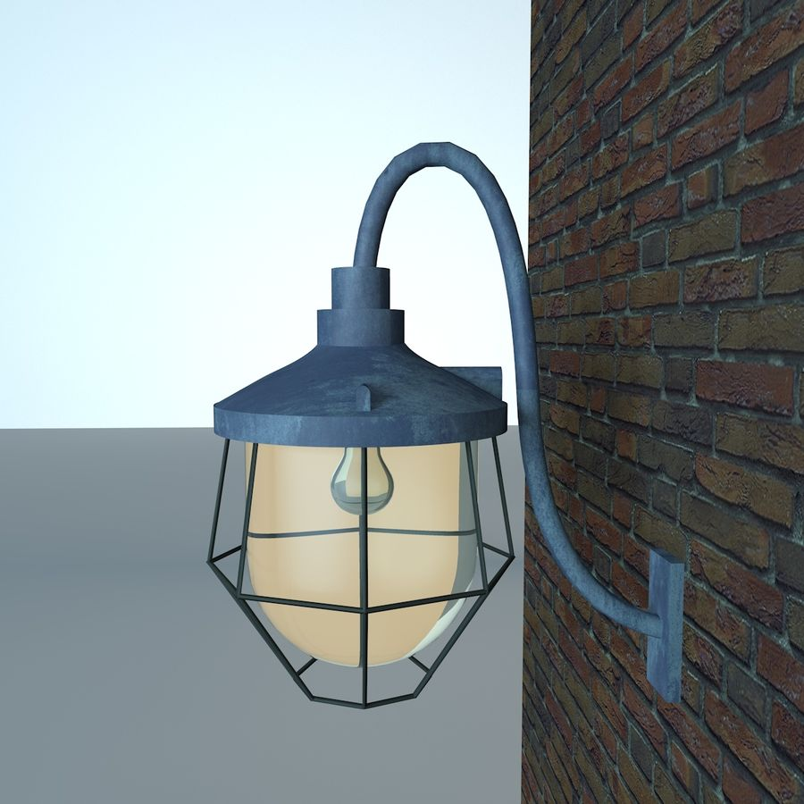Industrial Lamp royalty-free 3d model - Preview no. 6