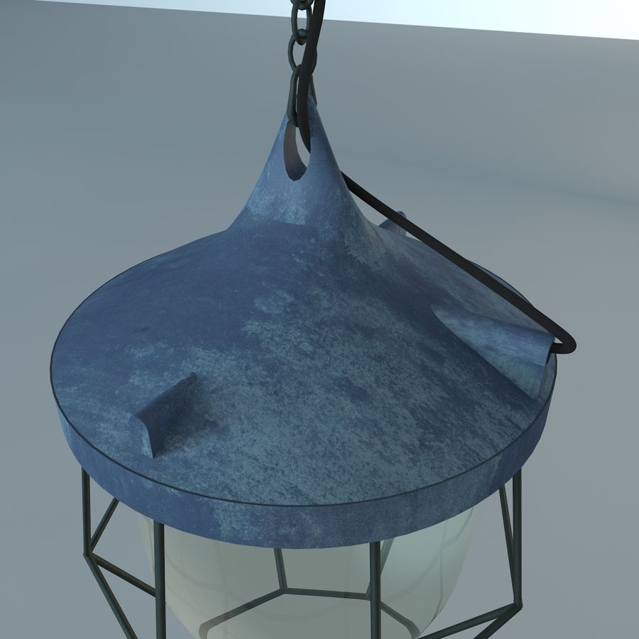 Industrial Lamp royalty-free 3d model - Preview no. 3
