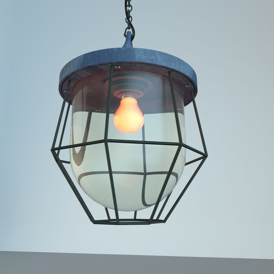 Industrial Lamp royalty-free 3d model - Preview no. 2