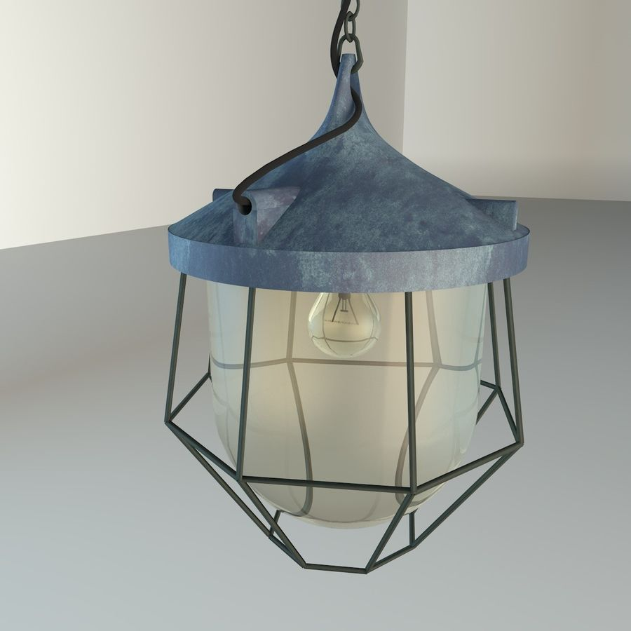 Industrial Lamp royalty-free 3d model - Preview no. 10