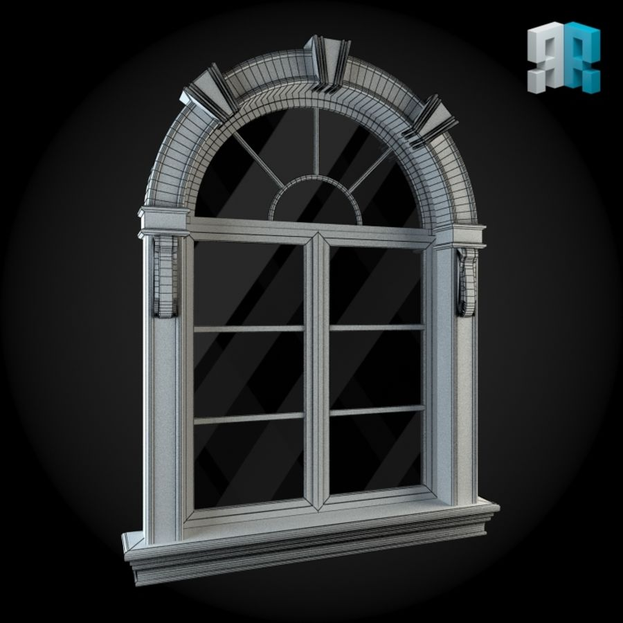 Venster 022 royalty-free 3d model - Preview no. 4
