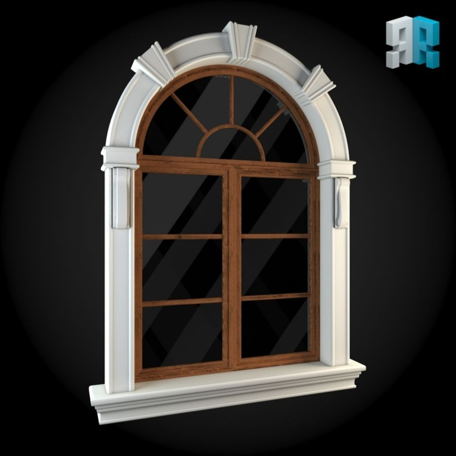 Venster 022 royalty-free 3d model - Preview no. 3