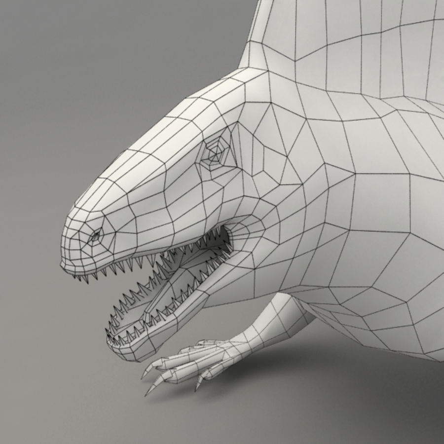 Edaphosaurus rigged royalty-free 3d model - Preview no. 10