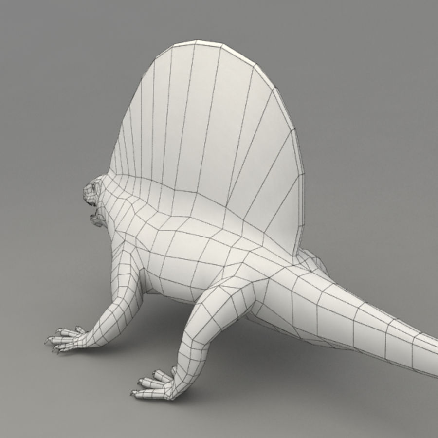 Edaphosaurus rigged royalty-free 3d model - Preview no. 8