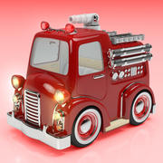 Cartoon Fire Truck 3d model