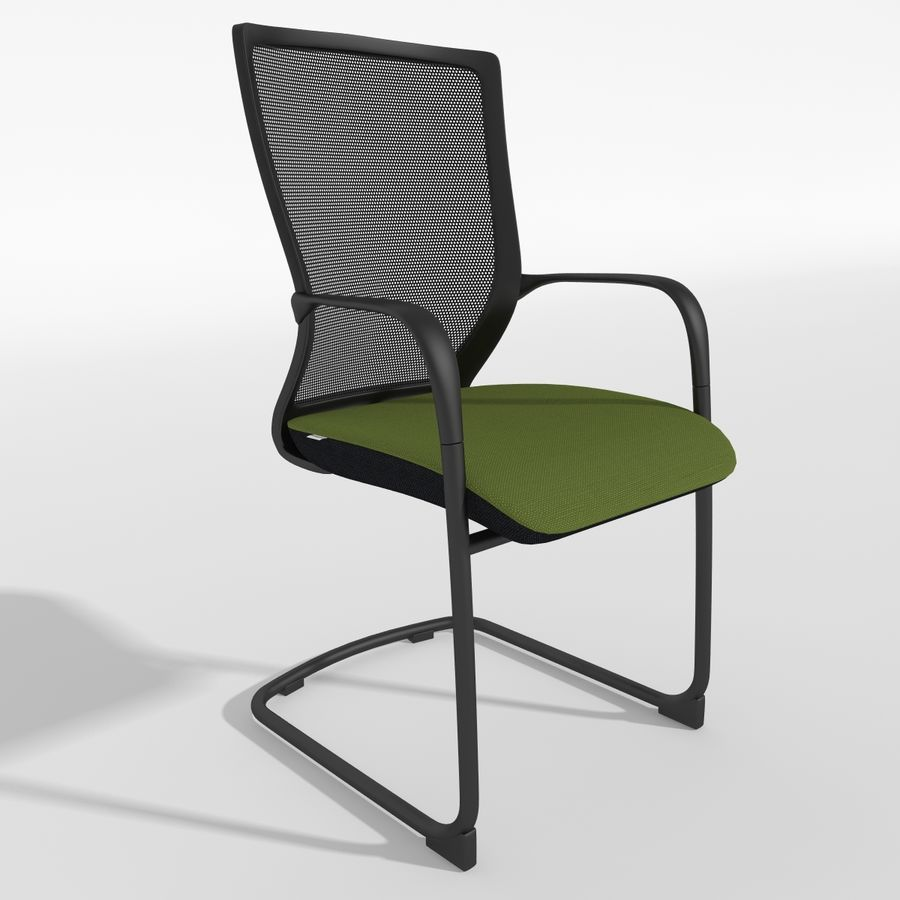 Chair Office royalty-free 3d model - Preview no. 2