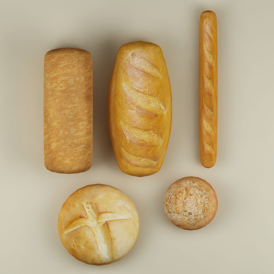 Bread_01 royalty-free 3d model - Preview no. 5