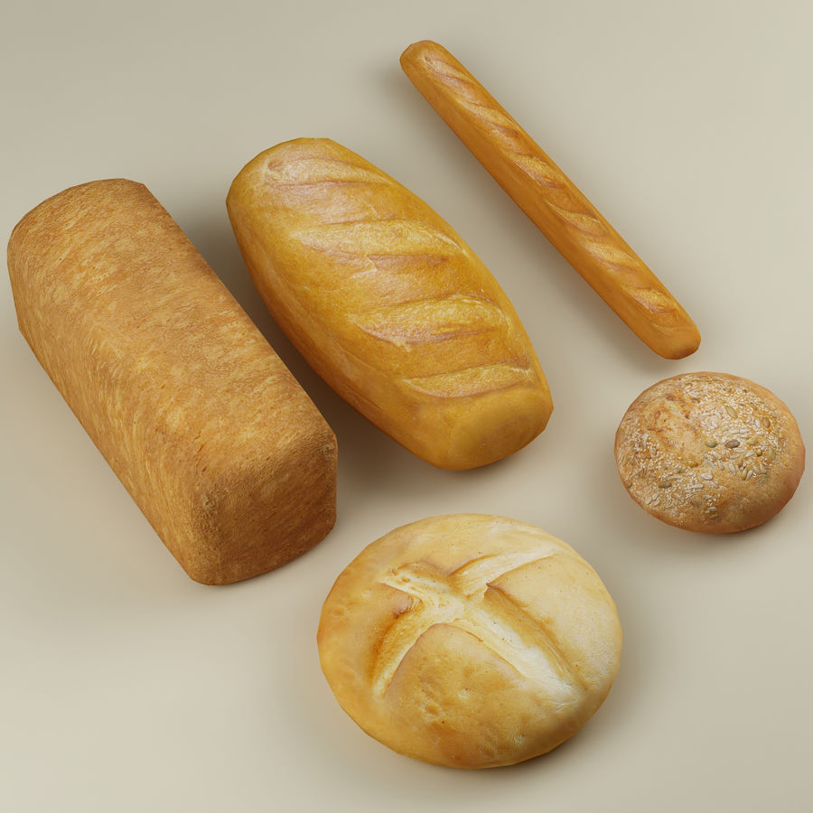Bread_01 royalty-free 3d model - Preview no. 1