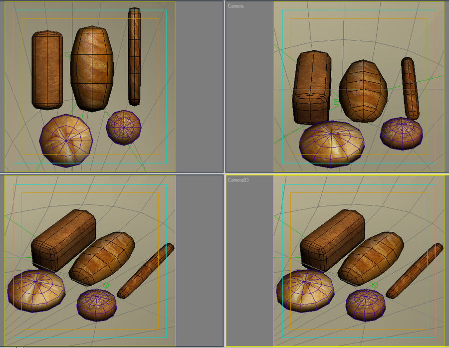 Bread_01 royalty-free 3d model - Preview no. 7