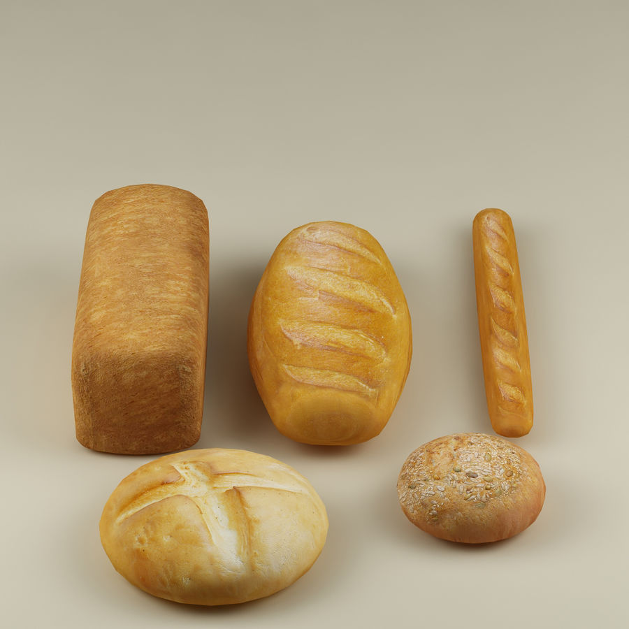 Bread_01 royalty-free 3d model - Preview no. 4