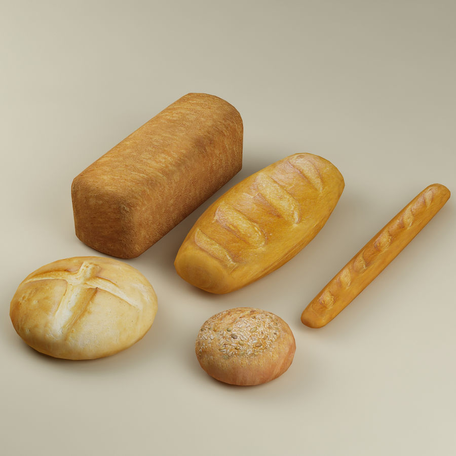 Bread_01 royalty-free 3d model - Preview no. 2