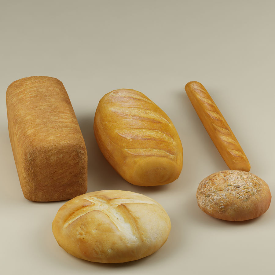 Bread_01 royalty-free 3d model - Preview no. 3