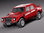 Lamborghini LM002 1986 3d model