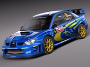 Subaru Impreza STi WRC 2006 3d model