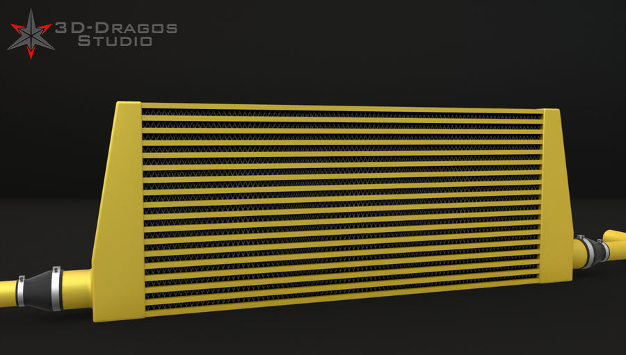 Car-Intercooler royalty-free 3d model - Preview no. 6