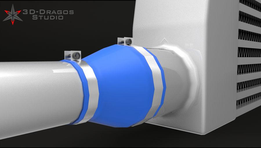 Car-Intercooler royalty-free 3d model - Preview no. 3