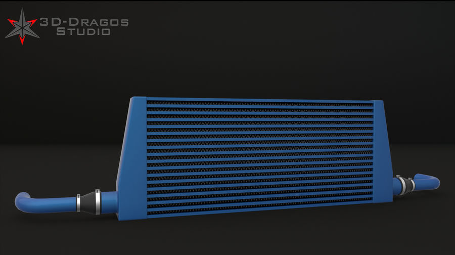 Car-Intercooler royalty-free 3d model - Preview no. 4