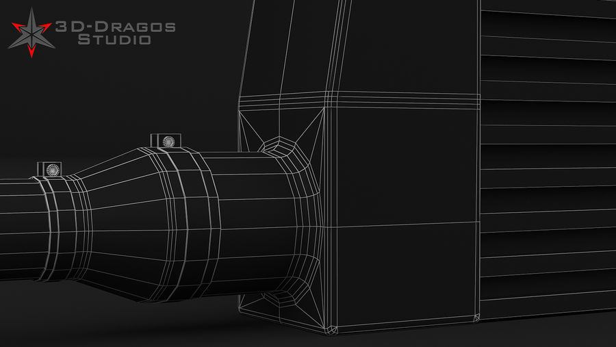Car-Intercooler royalty-free 3d model - Preview no. 9