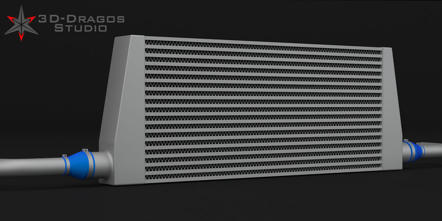 Car-Intercooler royalty-free 3d model - Preview no. 1