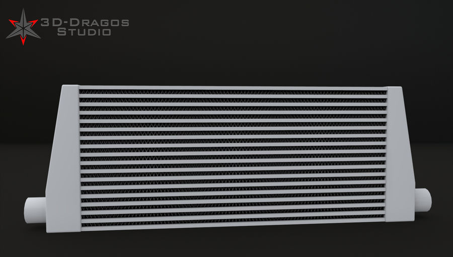 Car-Intercooler royalty-free 3d model - Preview no. 5