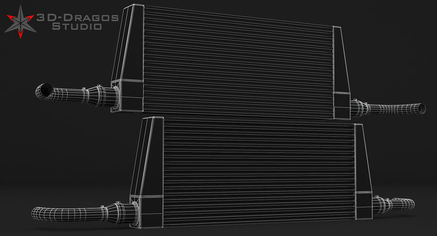 Car-Intercooler royalty-free 3d model - Preview no. 8