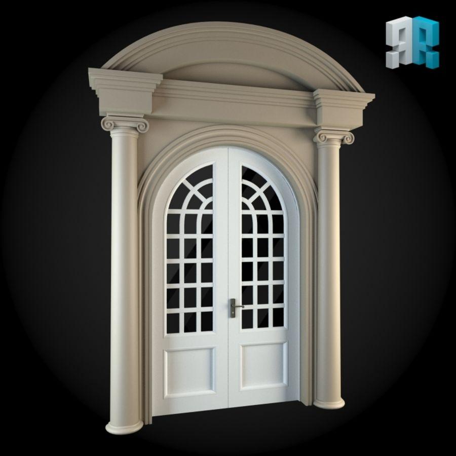 Door 044 royalty-free 3d model - Preview no. 3