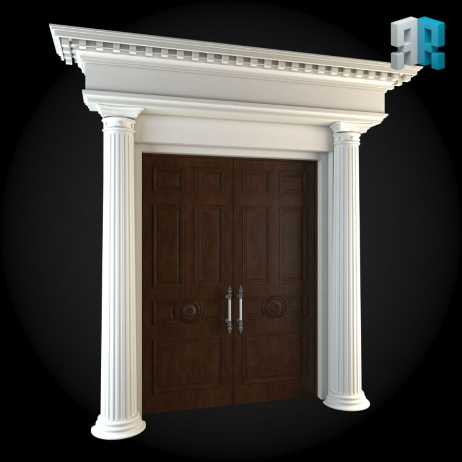 Door 024 royalty-free 3d model - Preview no. 3