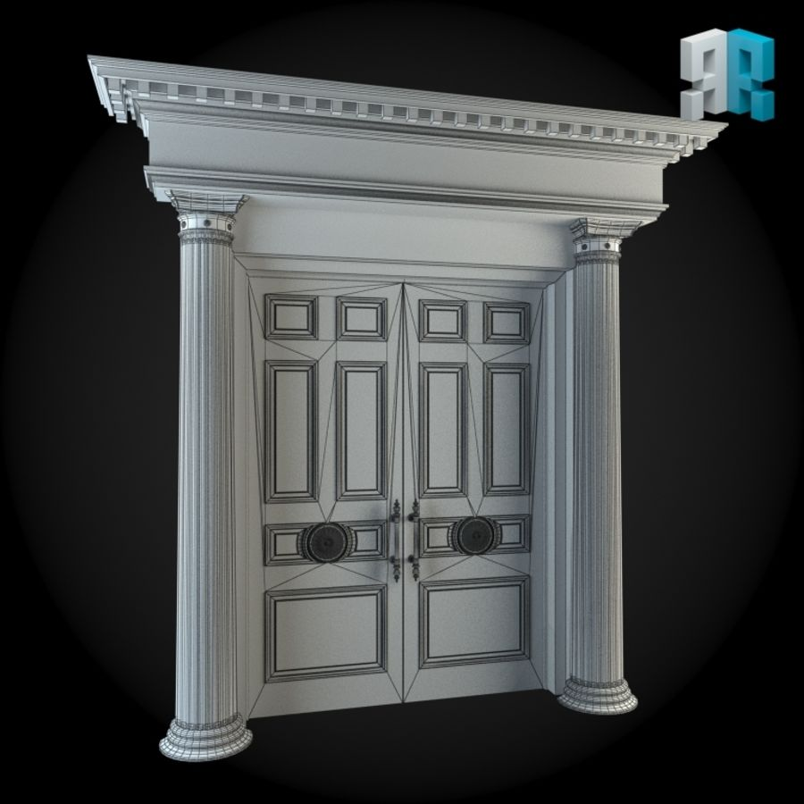 Door 024 royalty-free 3d model - Preview no. 2