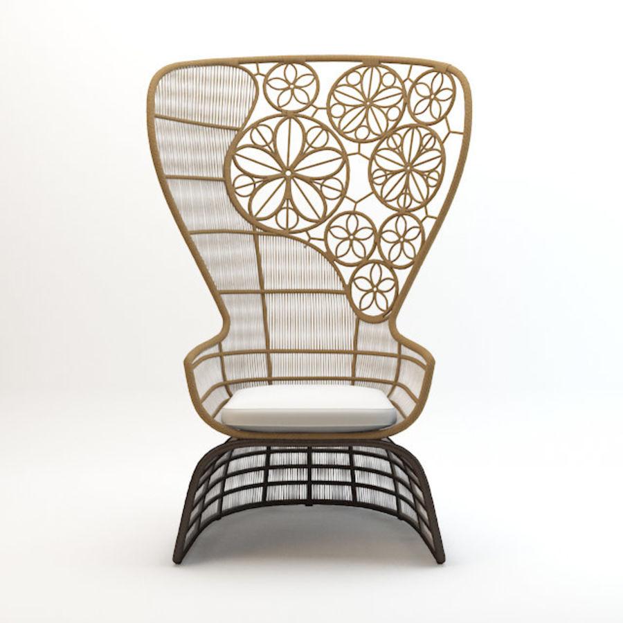 Crinoline armchair Patricia Urquiola royalty-free 3d model - Preview no. 5  sc 1 st  Free3D.com & Crinoline armchair Patricia Urquiola 3D Model $8 - .3ds .fbx .max ...