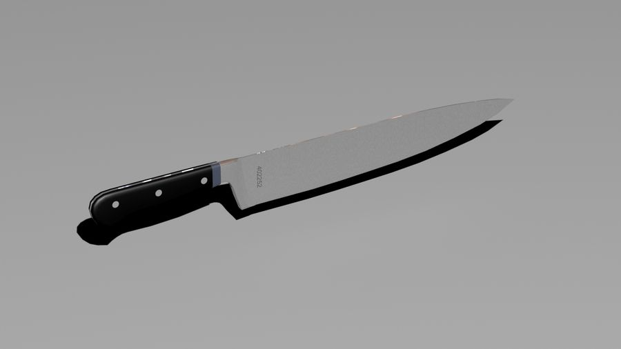 knife and holder royalty-free 3d model - Preview no. 3