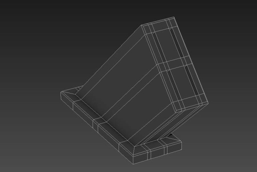 knife and holder royalty-free 3d model - Preview no. 6
