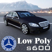 S600 AMG Low Poly 3d model