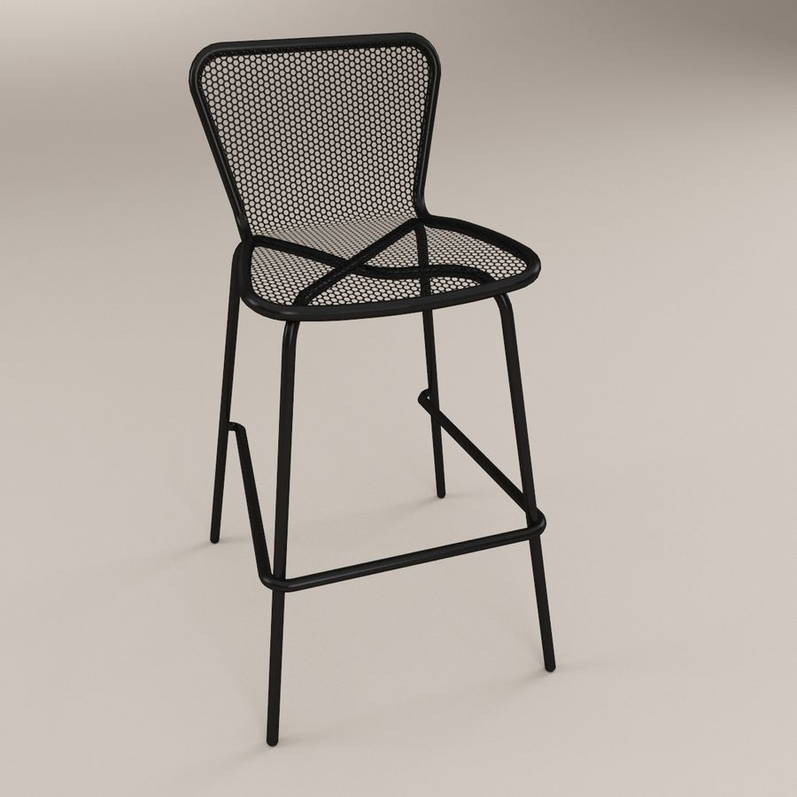 Brilliant Khali Bar Stool 3D Model 9 Max C4D Ma Fbx 3Ds Obj Gmtry Best Dining Table And Chair Ideas Images Gmtryco
