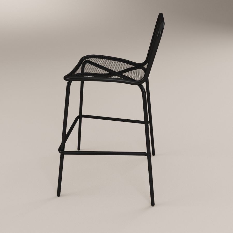 Incredible Khali Bar Stool 3D Model 9 Max C4D Ma Fbx 3Ds Obj Gmtry Best Dining Table And Chair Ideas Images Gmtryco