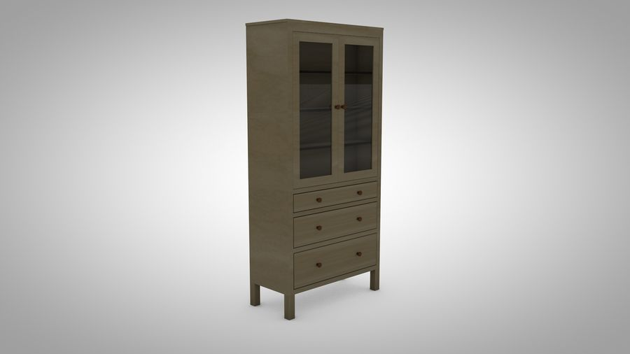 Hemnes Cabinet royalty-free 3d model - Preview no. 2