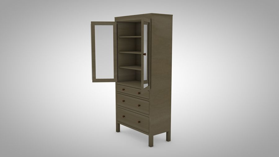Hemnes Cabinet royalty-free 3d model - Preview no. 4
