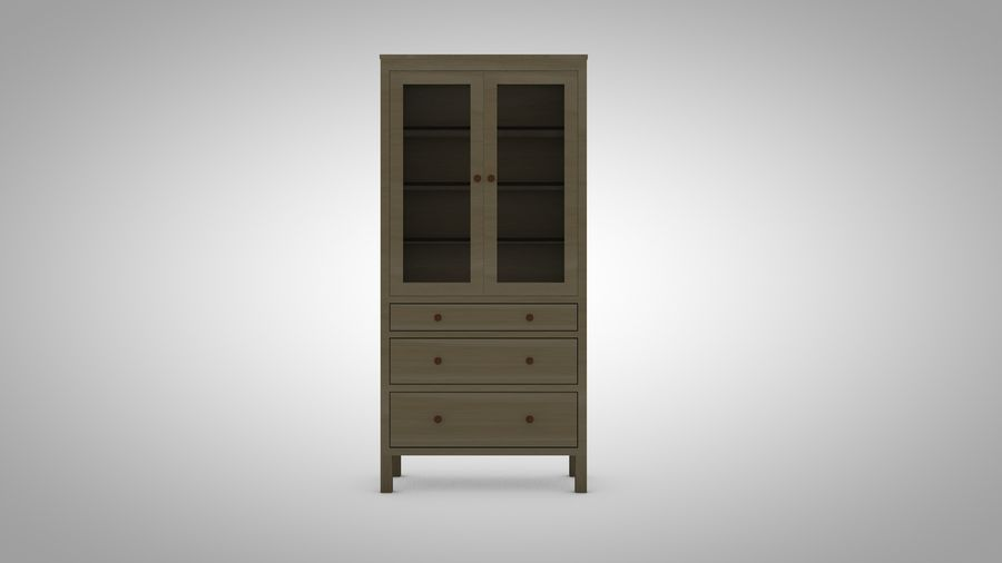 Hemnes Cabinet royalty-free 3d model - Preview no. 1