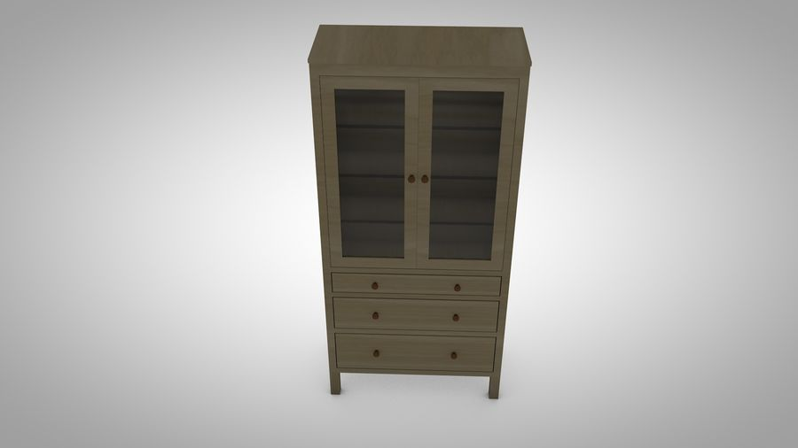 Hemnes Cabinet royalty-free 3d model - Preview no. 5