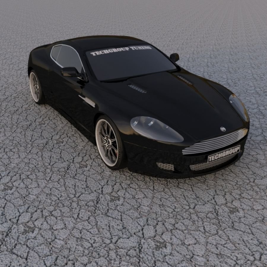 Aston Martin DBR Tuned royalty-free 3d model - Preview no. 1