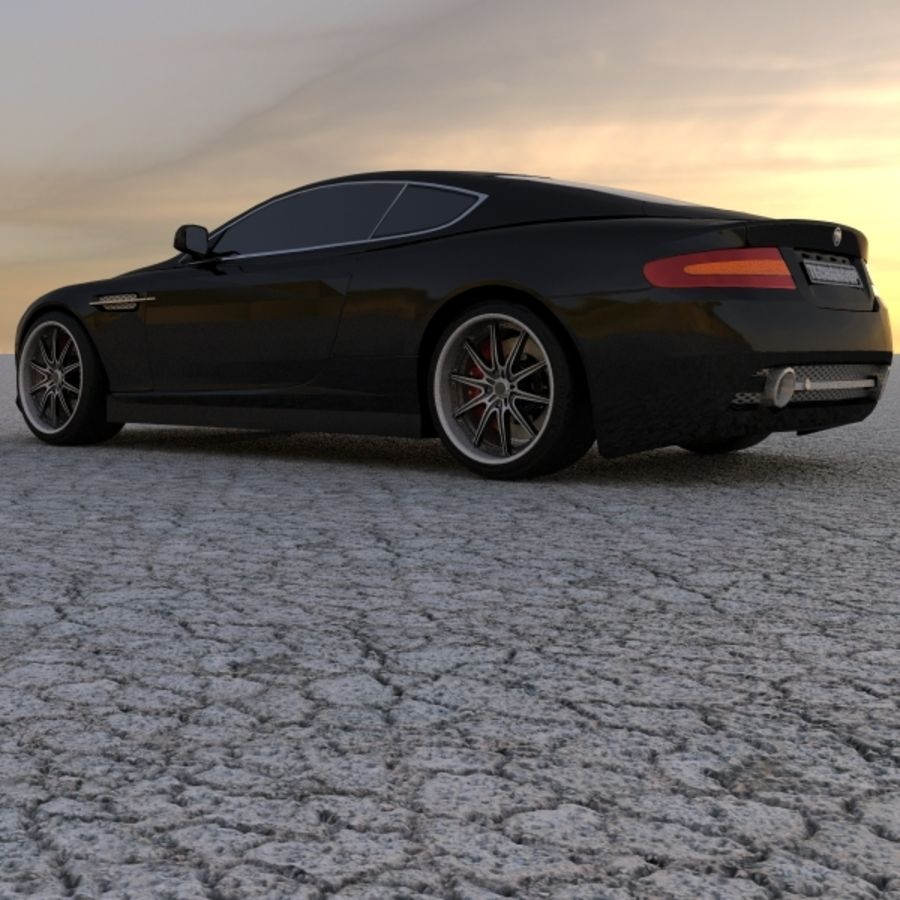 Aston Martin DBR Tuned royalty-free 3d model - Preview no. 4