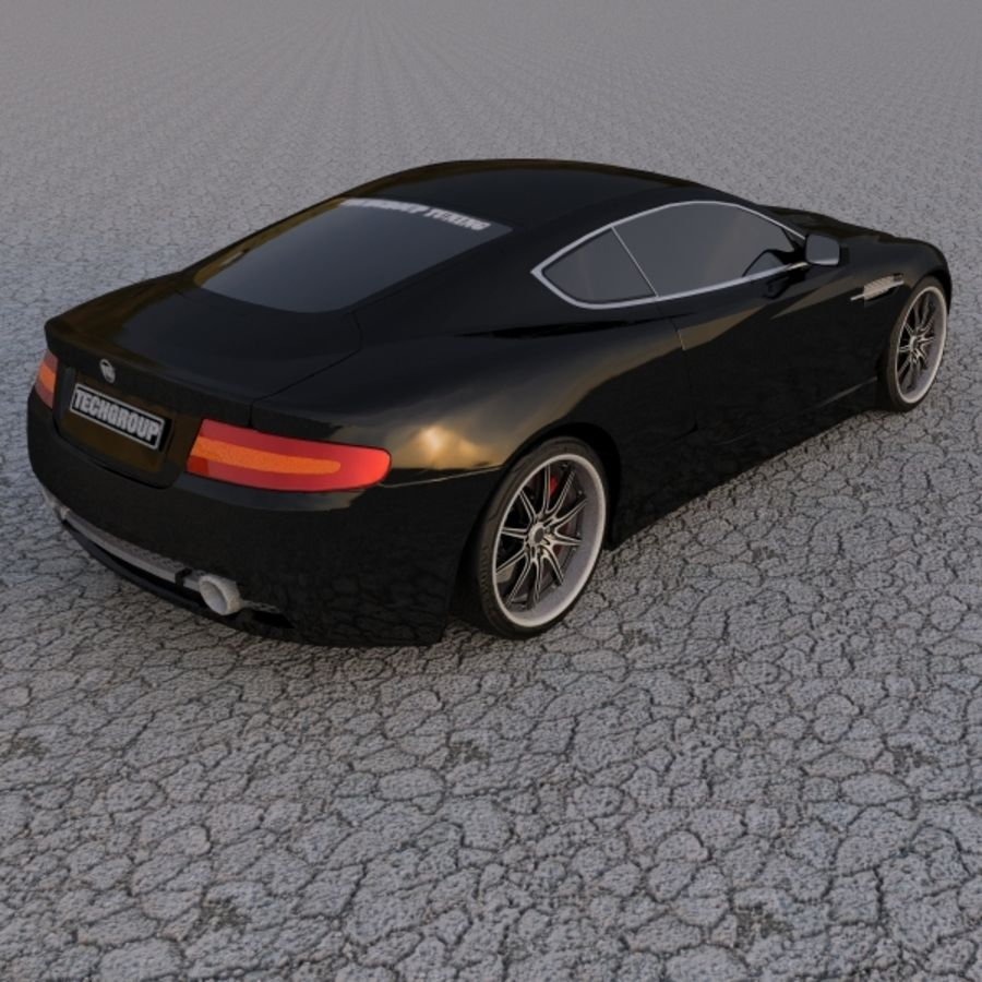 Aston Martin DBR Tuned royalty-free 3d model - Preview no. 6