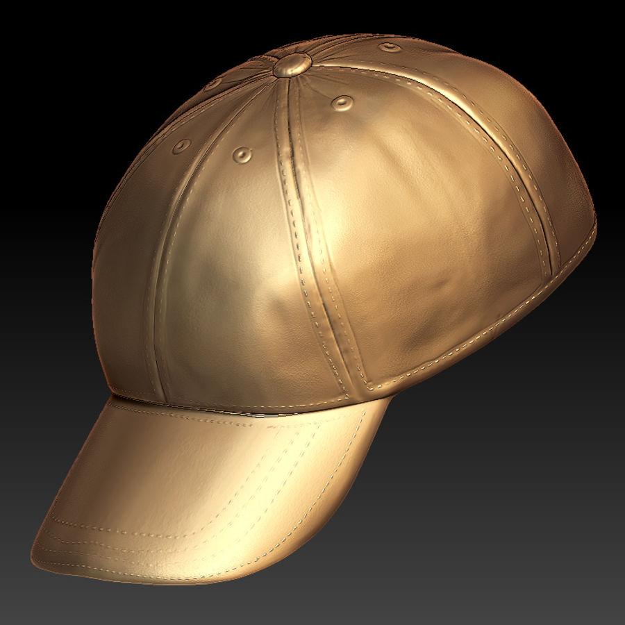 Security Guard Cap royalty-free 3d model - Preview no. 3