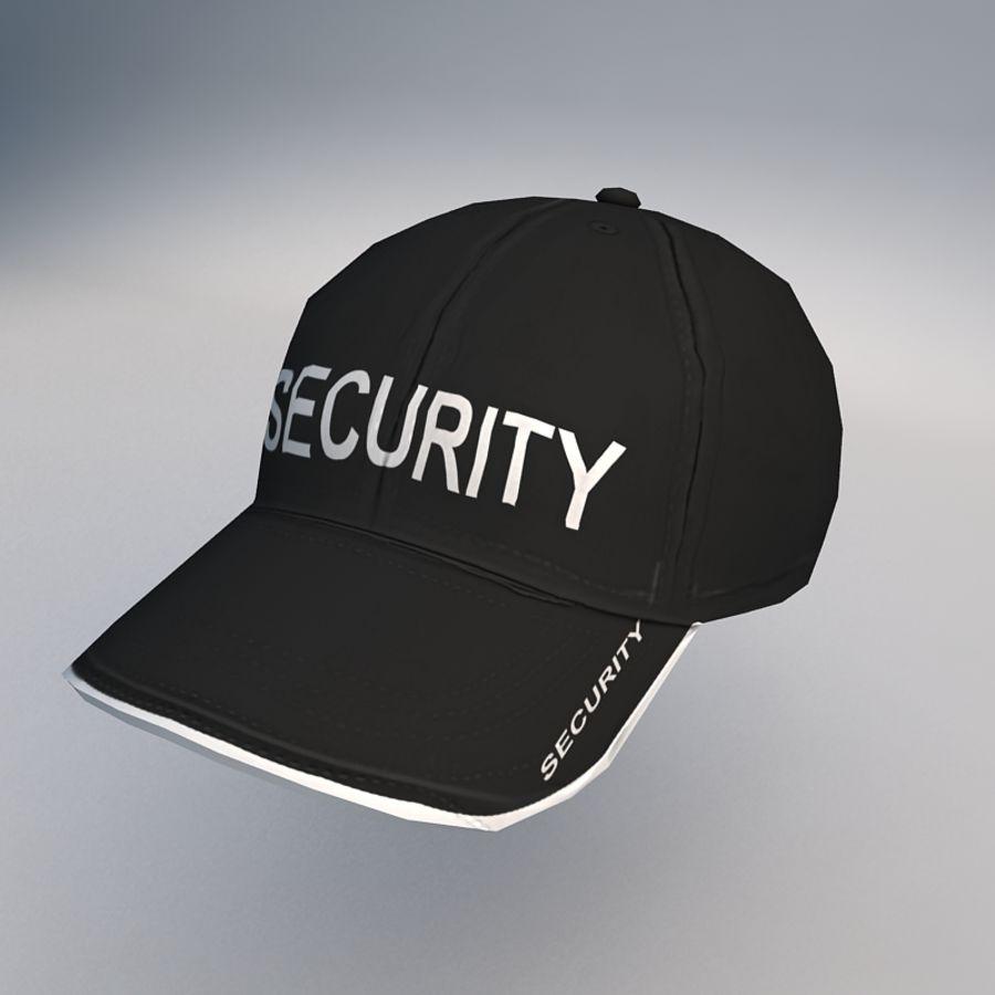 Security Guard Cap royalty-free 3d model - Preview no. 1