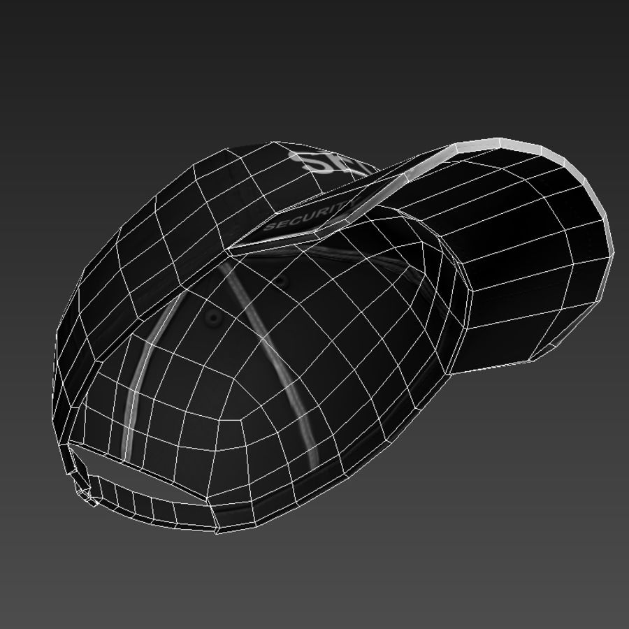 Security Guard Cap royalty-free 3d model - Preview no. 11