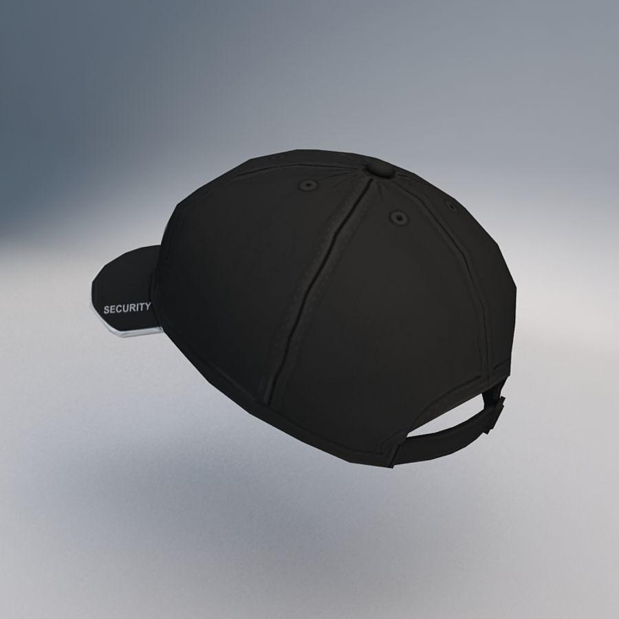 Security Guard Cap royalty-free 3d model - Preview no. 2