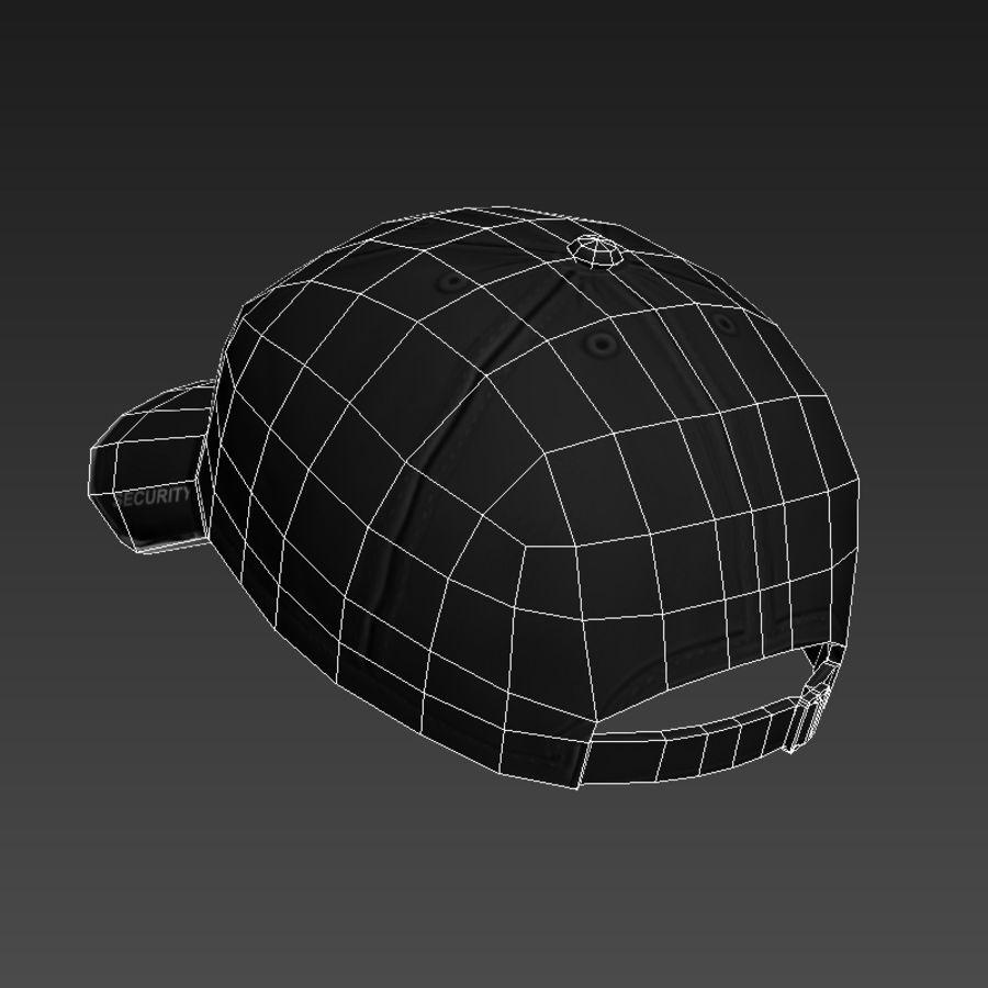 Security Guard Cap royalty-free 3d model - Preview no. 9
