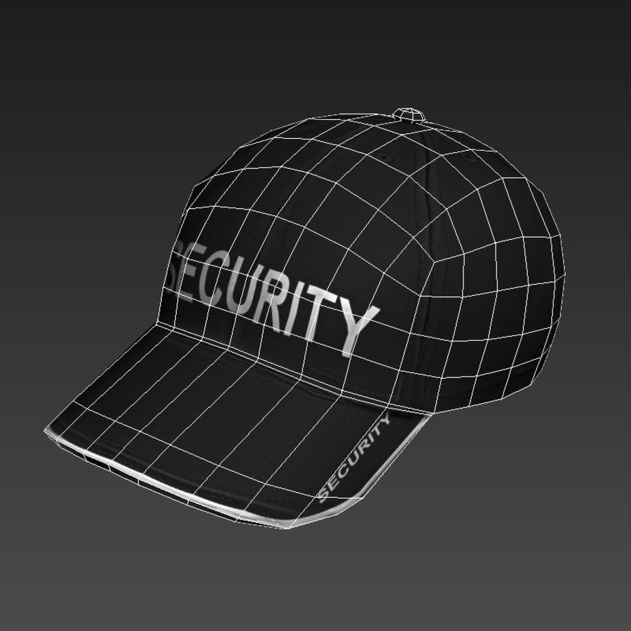 Security Guard Cap royalty-free 3d model - Preview no. 7