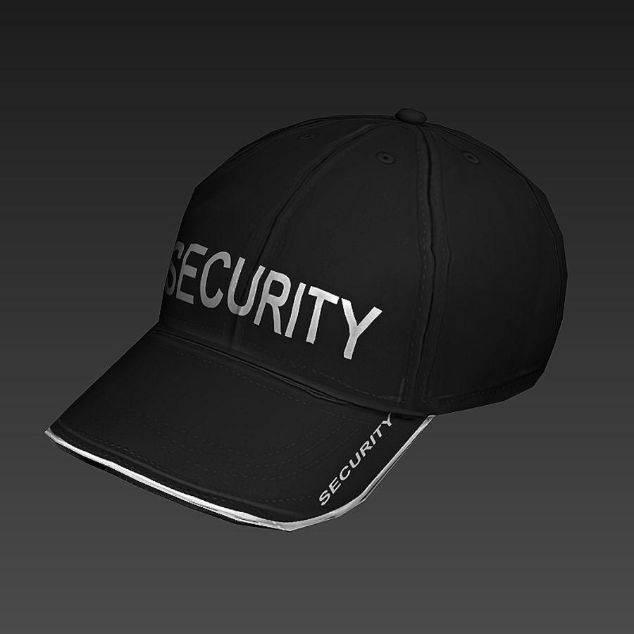 Security Guard Cap royalty-free 3d model - Preview no. 6