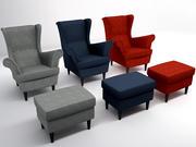 STRANDMON Kanatlı sandalye 3d model