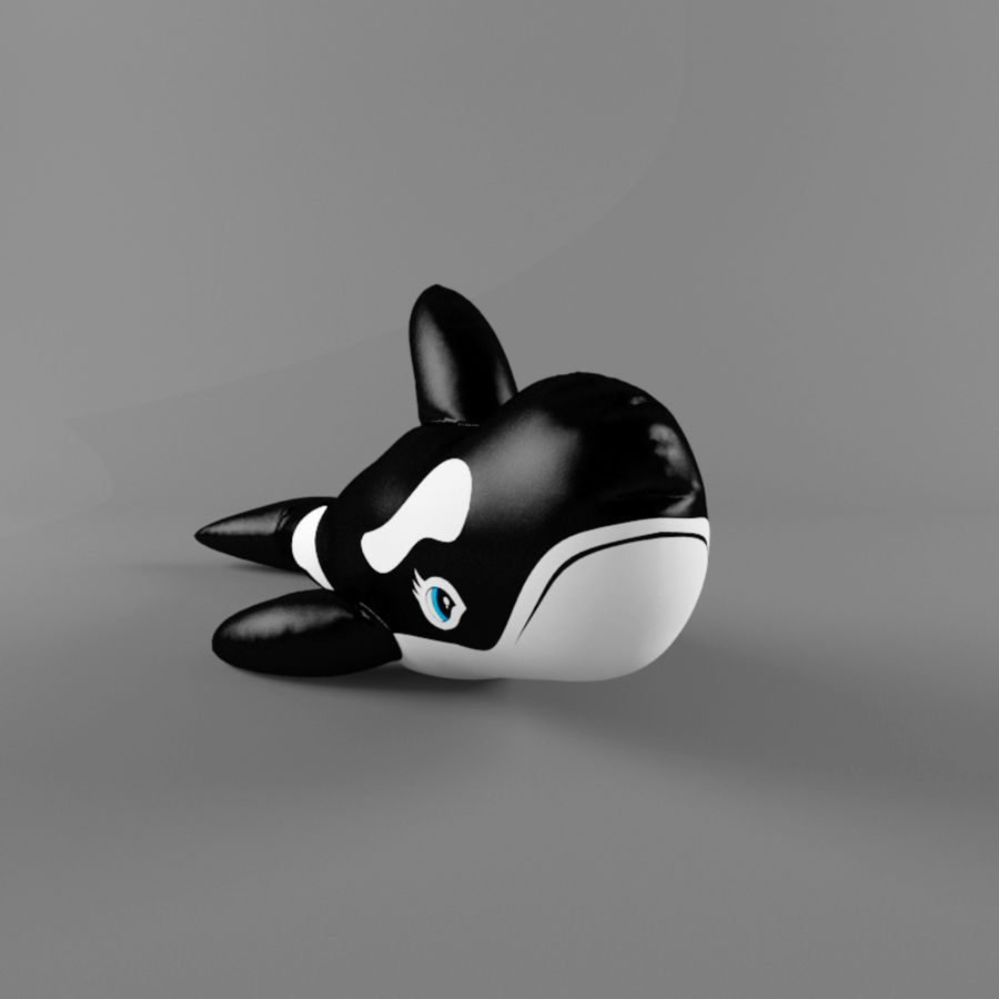 killer whale royalty-free 3d model - Preview no. 2